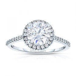 RM1301R - Round Cut Halo Diamond Engagement Ring