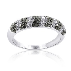 Black and White Diamond Bands starting at $850.00 14k White Gold