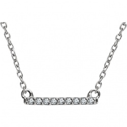Diamond Bar Pendant 14K White Gold $320