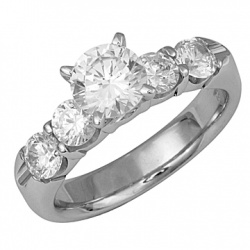 FROST - N209 Engagement ring available in various total weights, center and/or side stone shapes, and type/color of gem.
